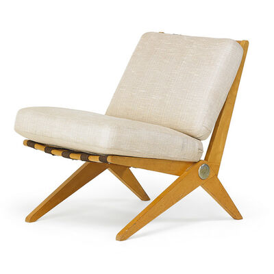 Pierre Jeanneret, 'Scissor lounge chair, New York', 1950s