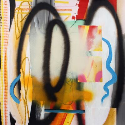 Fiona Ackerman, 'Composition No 06 - Gestural lines, squiggles, swipes and sprays of colour, 2015', 2015