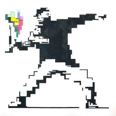 Adam Lister, 'Bansksey, Flower thrower ', 2018