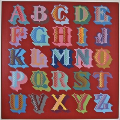 Ben Eine, 'San Francisco Font - Canvas', 2011