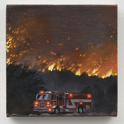 Rashell George, 'Fire (with Fire Engine)', 2019
