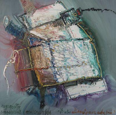 Mattia Moreni, 'Il cubo alienato non cuba più - Regressito consapevole', 1986