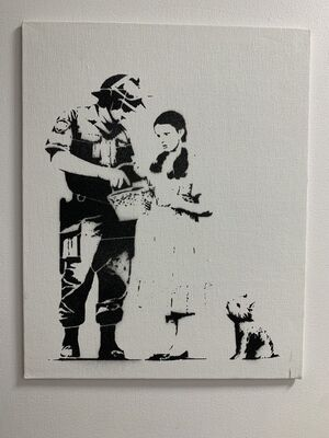 "Banksy, 'BANKSY DISMALAND "" STOP & SEARCH""', 2015"