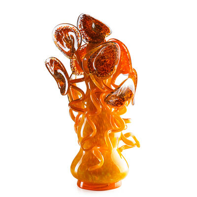 Dale Chihuly, 'Orange Mango with Leopard Lilies', 1991