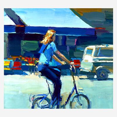 Nicola Simbari, 'Along the Avenue (Rue St. Andre des Artes)'