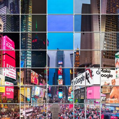 Max Farina, 'CRONORAMA | NYC 05 | Variation_01 | Newyork, Photo Mosaic Art, Time Square ', 2018