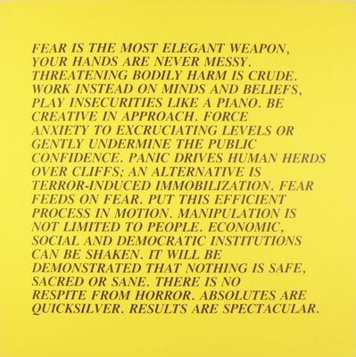 "Jenny Holzer, 'From the series ""Inflammatory Essays""', 1979-1982"