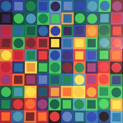 Victor Vasarely, 'Planetary Folklore Participations No. 1', 1960-1969