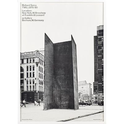 Richard Serra, 'TWU 1979/80', 1979