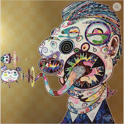 Takashi Murakami, 'Homage to Francis Bacon (Study for Head of Isabel Rawsthrone and George Dyer)', 2016