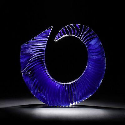 Colin Reid, 'Colour Saturation; Blue Spiral', 2019