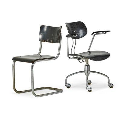 Mart Stam, 'Armchair And Side Chair, Austria', 20th C.