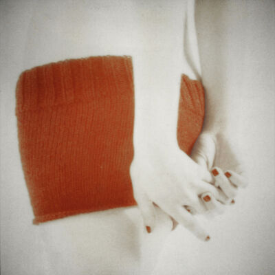 Mira Loew, 'Orange Knit with Clasped Hands', 2014