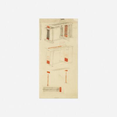 Bart van der Leck, 'Untitled (study for a desk)', c. 1925