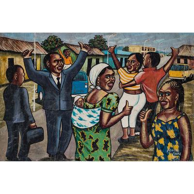 Monsengwo Kejwamfi dit 'Moké', 'Untitled (scène de vie en campagne)', 1999