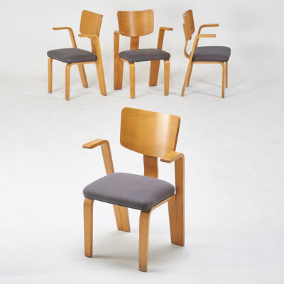 Thonet, 'Four bentwood armchairs', 1950s