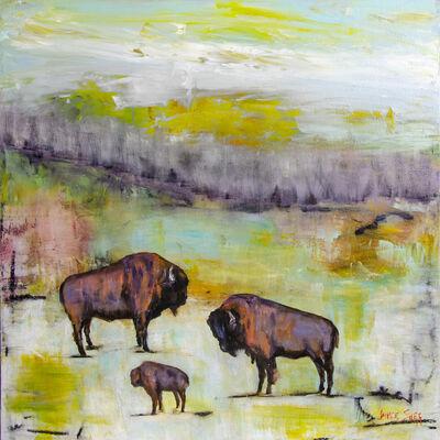 Janice Sugg, 'Bison Herd, Blue Pond', 2019