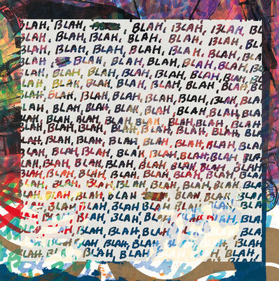 "Mel Bochner, '""Blah, Blah, Blah"" (+ Background Noise)', 2012"
