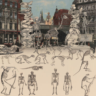 Peter Blake, 'London- Ludgate Circus- Day of the Skeletons', 2012