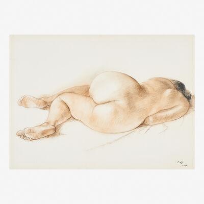 Francisco Zúñiga, 'Desnudo Recostado de Espaldas', 1976