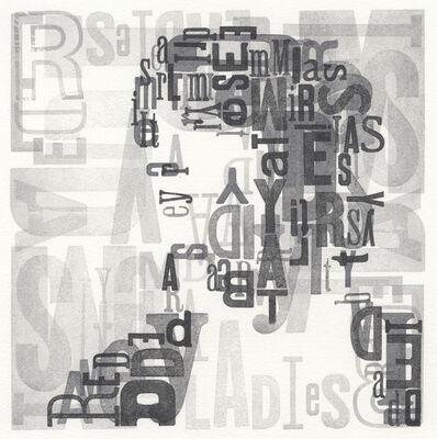Leslie Nichols, 'Typeface', 2015