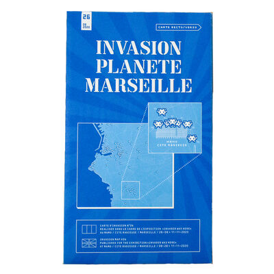 Invader, 'INVASION PLANETE MARSEILLE (MARSEILLE MAP Folded)', 2020