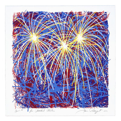James Rosenquist, 'Fireworks for President Clinton', 1996