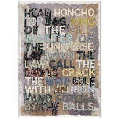 Mel Bochner, 'Head Honcho', 2010