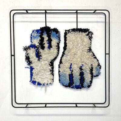 Judy Rushin-Knopf, 'Textile sculpture on Steel frame: 'Gloves'', 2021
