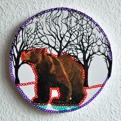 Sabine Kürzel, 'Grizzly bear', 2015