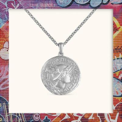 PichiAvo, ''Old School' Sterling Silver Coin/Chain', 2021