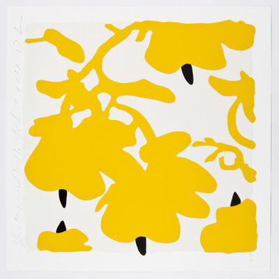 Donald Sultan, 'Lantern Flowers (Yellow and White)', 2017