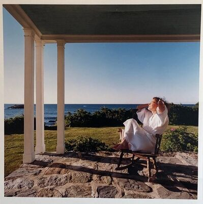 Peter C. Jones, 'Woman in Bathrobe Large Format Flower Photo 24X20 Color Photograph Beach House', 2000-2009