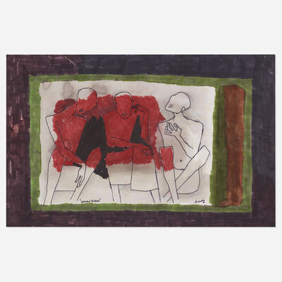 M. F. Husain, 'Wounded Shadows', 1981