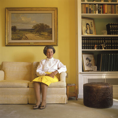 Michael O'Brien, 'Lady Bird Johnson, LBJ Ranch, Stonewall', 1989
