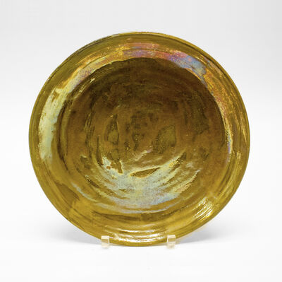 Beatrice Wood, 'Gold Luster Plate', ca. 1970