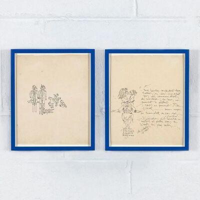 Niki de Saint Phalle, 'Two Drawings', 1967
