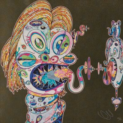 Takashi Murakami, 'Homage to Francis Bacon (Study for Head of Isabel Rawsthorne and George Dyer) (two works)', 2016