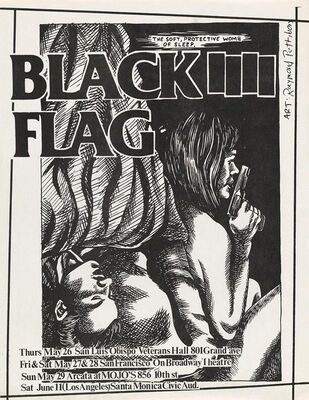 Raymond Pettibon, 'Raymond Pettibon Black Flag at Veterans Hall 1983', 1983