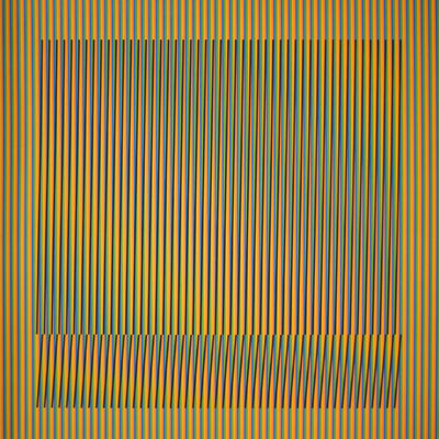 Carlos Cruz-Diez, 'Induction Chromatique a double frequence Orinoco 5', 2018