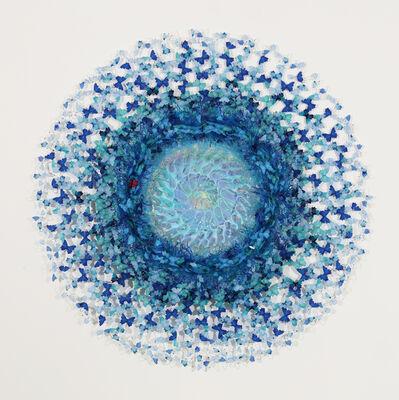 Annalù Boeretto, 'Résine, encre, papier cendré, verre de Murano', 2020
