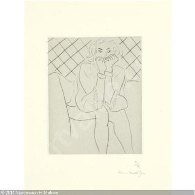 Henri Matisse, 'FIGURE ASSISE MAINS AU MENTON'