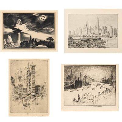 Louis Lozowick, 'Angry Skies (Flint 123)', 1935