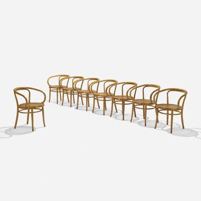 Gebruder Thonet, '209 armchairs, set of eight', 1900