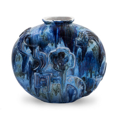 Wiener Werkstätte, 'Floral vase Vally Wieselthier attributed ceramics bowl nr. 107 Wiener Werkstatte ca. 1920', ca. 1920
