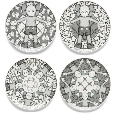 KAWS, 'Holiday Plate Set (Grey)', 2019