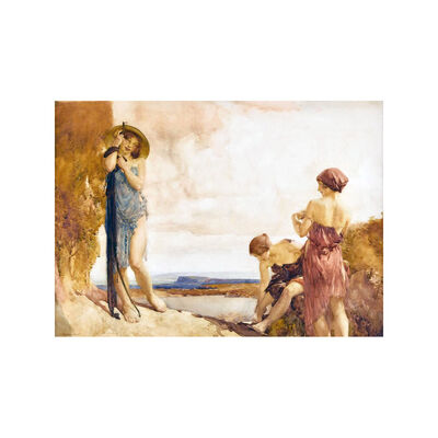 William Russell Flint, 'Three damsels', ca. 1915
