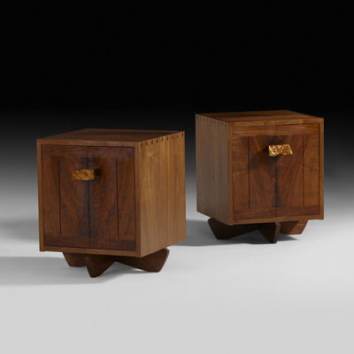 George Nakashima, 'Kornblut cabinets, pair', 1985