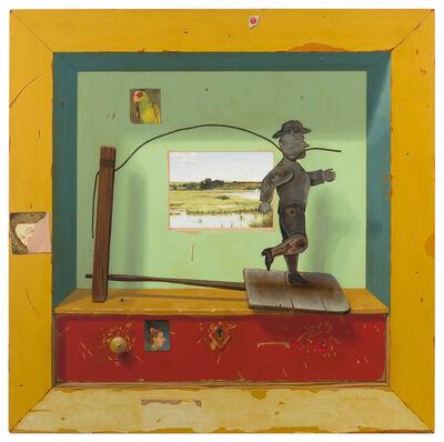 Ron Rizk, 'Levi Commission, 1999, trompe l'oeil with tin cowboy'
