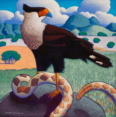 Ray-Mel Cornelius, 'Crested Caracara with Rattlesnake', 2016
